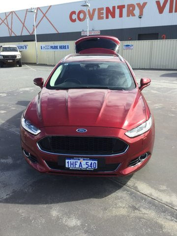 Used Ford Mondeo MD 2017.50MY Titanium Morley, 2017 Ford Mondeo MD 2017.50MY Titanium Red 6 Speed Sports Automatic Dual Clutch Wagon