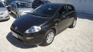 2013 Fiat Punto MY13 Easy Dualogic Black 5 Speed Sports Automatic Single Clutch Hatchback