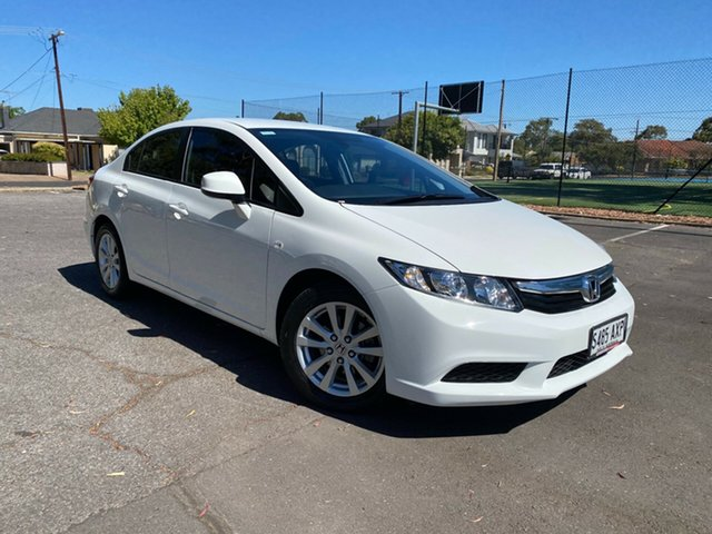 Used Honda Civic 9th Gen Ser II VTi-L Nailsworth, 2013 Honda Civic 9th Gen Ser II VTi-L White 5 Speed Sports Automatic Sedan