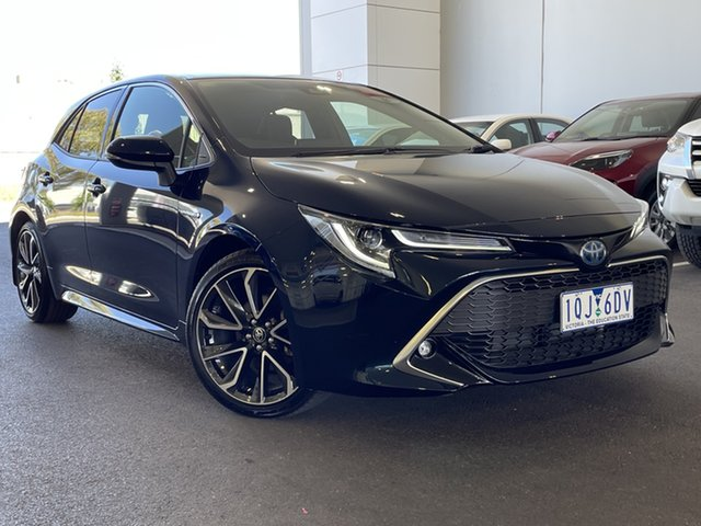 Pre-Owned Toyota Corolla ZWE211R ZR E-CVT Hybrid South Morang, 2019 Toyota Corolla ZWE211R ZR E-CVT Hybrid Black 10 Speed Constant Variable Hatchback Hybrid
