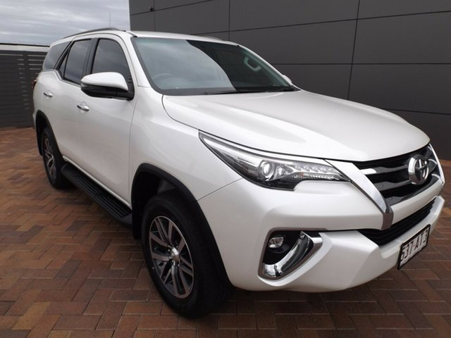 Used Toyota Fortuner GUN156R Crusade Toowoomba, 2019 Toyota Fortuner GUN156R Crusade White 6 Speed Automatic Wagon
