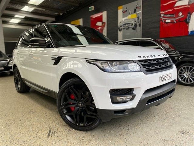 Used Land Rover Range Rover Sport L494 SDV8 HSE Dynamic Glebe, 2014 Land Rover Range Rover Sport L494 SDV8 HSE Dynamic Fuji White Sports Automatic Wagon