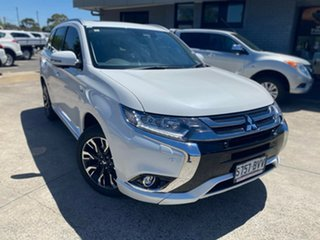 2017 Mitsubishi Outlander ZK MY18 PHEV AWD Exceed White 1 Speed Automatic Wagon Hybrid.