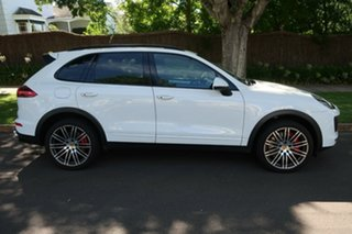 2015 Porsche Cayenne 92A MY15 Turbo Tiptronic White 8 Speed Sports Automatic Wagon