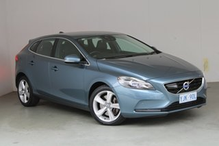 2013 Volvo V40 M Series MY13 T4 Adap Geartronic Luxury Biarritz Blue 6 Speed Sports Automatic.