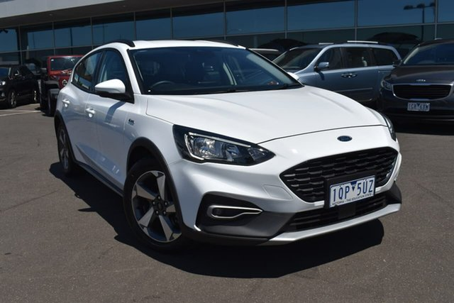 Used Ford Focus SA 2020.25MY Active Essendon Fields, 2019 Ford Focus SA 2020.25MY Active Frozen White 8 Speed Automatic Hatchback