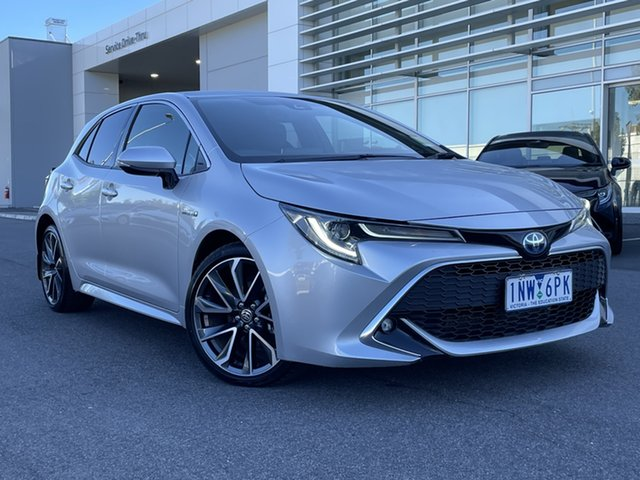 Pre-Owned Toyota Corolla ZWE211R ZR E-CVT Hybrid South Morang, 2018 Toyota Corolla ZWE211R ZR E-CVT Hybrid Silver 10 Speed Constant Variable Hatchback Hybrid