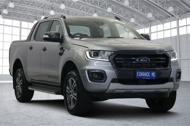 Used Ford Ranger PX MkIII 2019.00MY Wildtrak Victoria Park, 2019 Ford Ranger PX MkIII 2019.00MY Wildtrak Aluminium 10 Speed Sports Automatic Double Cab Pick Up