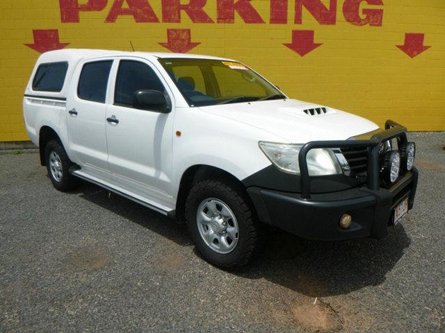 Used Toyota Hilux KUN26R MY12 SR Double Cab Winnellie, 2013 Toyota Hilux KUN26R MY12 SR Double Cab White 4 Speed Automatic Utility