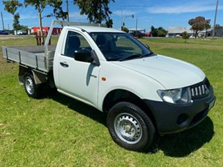 2008 Mitsubishi Triton ML MY08 GL 4x2 White 5 Speed Manual Cab Chassis.