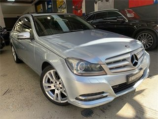2012 Mercedes-Benz C-Class W204 C250 BlueEFFICIENCY Elegance Diamond Silver Sports Automatic Sedan