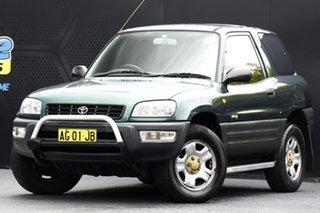 1999 Toyota RAV4 SXA10R Green 4 Speed Automatic Hardtop.