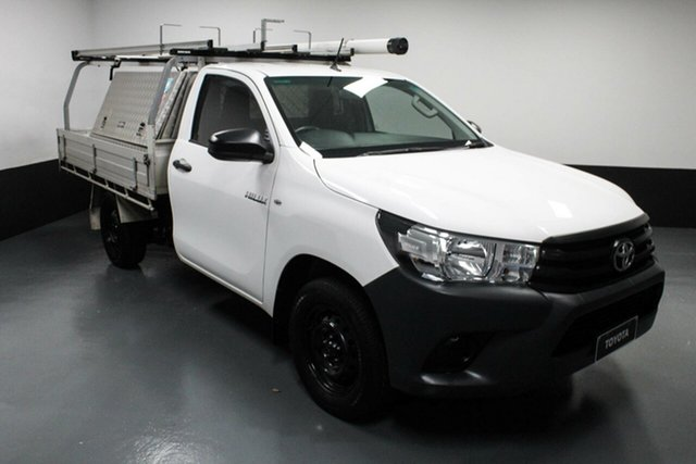 Used Toyota Hilux TGN121R Workmate 4x2 Cardiff, 2016 Toyota Hilux TGN121R Workmate 4x2 White 6 Speed Sports Automatic Cab Chassis