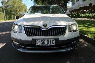 2014 Skoda Superb 3T MY15 Outdoor DSG 125TDI White 6 Speed Sports Automatic Dual Clutch Wagon.