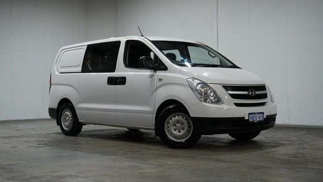 Used Hyundai iLOAD TQ2-V MY14 Crew Cab Welshpool, 2013 Hyundai iLOAD TQ2-V MY14 Crew Cab White 5 Speed Automatic Van