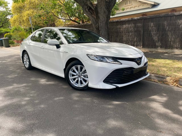 Used Toyota Camry AXVH71R Ascent Hawthorn, 2018 Toyota Camry AXVH71R Ascent White 6 Speed Constant Variable Sedan Hybrid