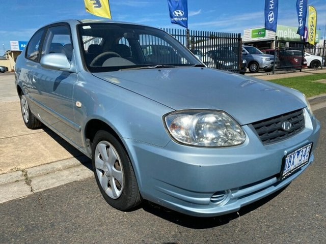 Used Hyundai Accent LC MY04 GL Melton, 2005 Hyundai Accent LC MY04 GL Blue 5 Speed Manual Hatchback