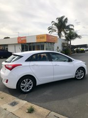 2013 Hyundai i30 GD MY14 Elite Alaskan White 6 Speed Automatic Hatchback.