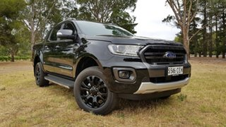 2020 Ford Ranger PX MkIII 2020.25MY Wildtrak Shadow Black 10 Speed Sports Automatic