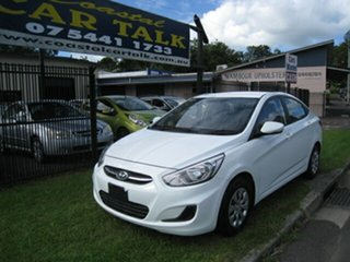 2015 Hyundai Accent RB Active White 5 Speed Manual Sedan.