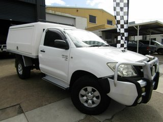 2011 Toyota Hilux KUN26R MY10 SR White 4 Speed Automatic Cab Chassis.