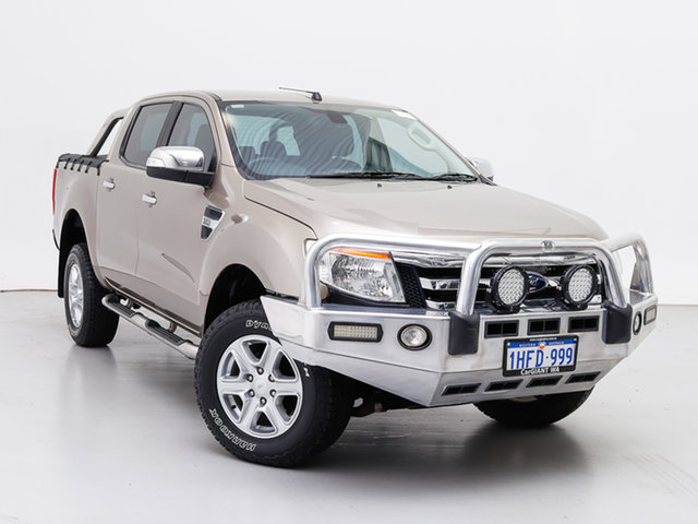 Used Ford Ranger PX XLT 3.2 (4x4), 2015 Ford Ranger PX XLT 3.2 (4x4) Gold 6 Speed Automatic Double Cab Pick Up