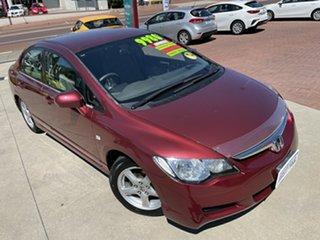 2007 Honda Civic MY07 VTi Red 5 Speed Automatic Sedan.