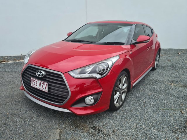 Used Hyundai Veloster FS4 Series II SR Coupe D-CT Turbo North Rockhampton, 2015 Hyundai Veloster FS4 Series II SR Coupe D-CT Turbo Red 7 Speed Sports Automatic Dual Clutch