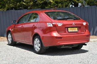 2009 Mitsubishi Lancer CJ MY09 ES Red 6 Speed Constant Variable Sedan