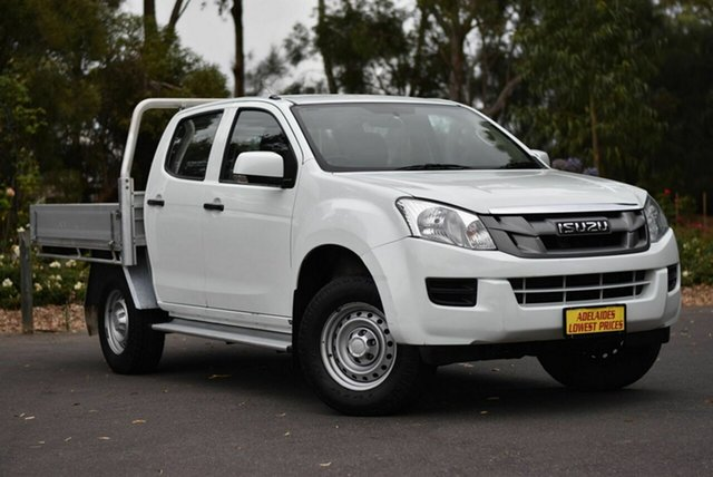 Used Isuzu D-MAX MY14 SX Crew Cab 4x2 High Ride Melrose Park, 2014 Isuzu D-MAX MY14 SX Crew Cab 4x2 High Ride White 5 Speed Sports Automatic Utility