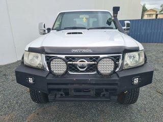 2013 Nissan Patrol Y61 GU 9 ST White 5 Speed Manual Wagon