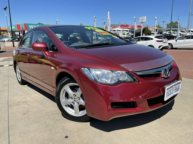 Used Honda Civic MY07 VTi Victoria Park, 2007 Honda Civic MY07 VTi Red 5 Speed Automatic Sedan