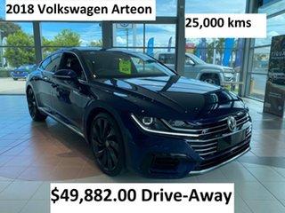 2018 Volkswagen Arteon 3H MY18 206TSI Sedan DSG 4MOTION R-Line Atlantic Blue 7 Speed.