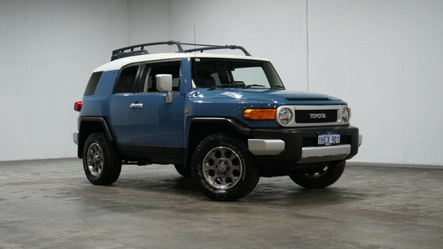 Used Toyota FJ Cruiser GSJ15R Welshpool, 2013 Toyota FJ Cruiser GSJ15R Military Blue 5 Speed Automatic Wagon