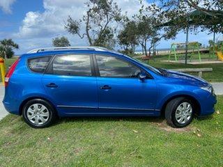2011 Hyundai i30 FD MY11 SX cw Wagon Blue 4 Speed Automatic Wagon.