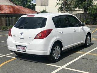 2009 Nissan Tiida C11 MY07 ST White 4 Speed Automatic Hatchback.
