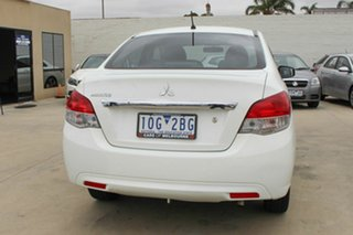 2015 Mitsubishi Mirage LA MY15 ES White 5 Speed Manual Sedan