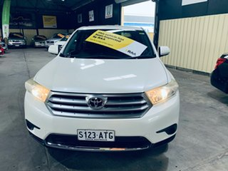 2012 Toyota Kluger GSU40R MY11 Upgrade KX-R (FWD) 5 Seat White 5 Speed Automatic Wagon.