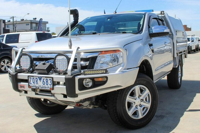 Used Ford Ranger PX XLT Super Cab Coburg North, 2013 Ford Ranger PX XLT Super Cab Silver 6 Speed Manual Utility