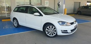 2015 Volkswagen Golf VII MY15 110TDI DSG Highline White 6 Speed Sports Automatic Dual Clutch Wagon.