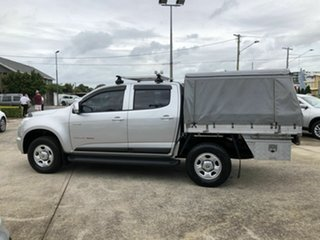 2014 Holden Colorado RG MY14 LX Crew Cab Silver 6 Speed Sports Automatic Cab Chassis.