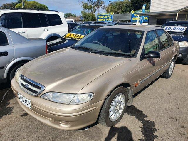 Used Ford Fairmont EL Ghia Morphett Vale, 1998 Ford Fairmont EL Ghia Gold 4 Speed Automatic Sedan