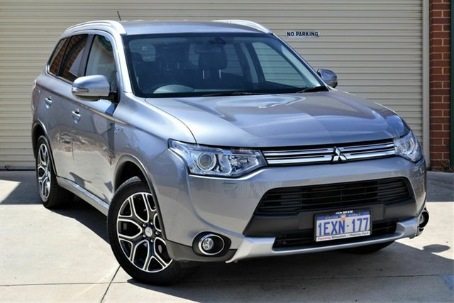 Used Mitsubishi Outlander ZJ MY14.5 PHEV AWD Aspire Mount Lawley, 2015 Mitsubishi Outlander ZJ MY14.5 PHEV AWD Aspire Grey 1 Speed Automatic Wagon Hybrid