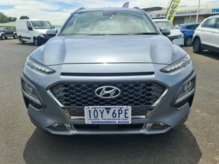 2018 Hyundai Kona OS MY18 Highlander D-CT AWD Grey 7 Speed Sports Automatic Dual Clutch Wagon.