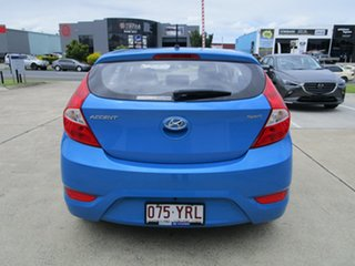 2018 Hyundai Accent RB6 MY19 Sport Light Blue 6 Speed Sports Automatic Hatchback.