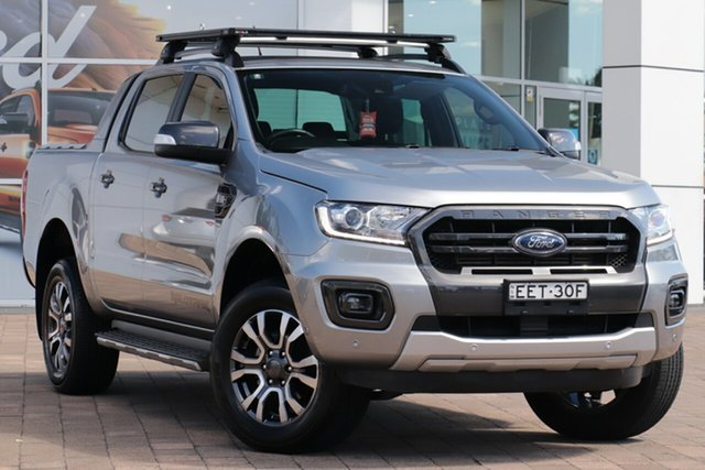Used Ford Ranger PX MkIII 2019.00MY Wildtrak Warwick Farm, 2019 Ford Ranger PX MkIII 2019.00MY Wildtrak Aluminium 10 Speed Sports Automatic Double Cab Pick Up