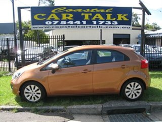 2012 Kia Rio UB SLi Orange 6 Speed Automatic Hatchback.