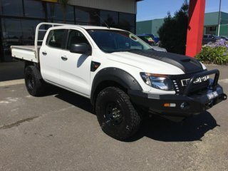 2012 Ford Ranger PX XL 3.2 (4x4) White 6 Speed Manual Dual Cab Chassis.