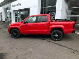 2019 Volkswagen Amarok 2H MY20 TDI580 4MOTION Perm Highline Black Red 8 Speed Automatic Utility