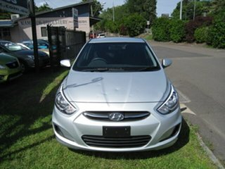 2017 Hyundai Accent RB4 Active Silver 6 Speed Automatic Hatchback.